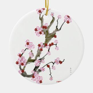 Kirschblüte 16 Tony Fernandes Rundes Keramik Ornament