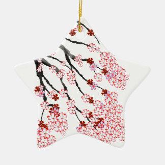 Kirschblüte 18 Tony Fernandes Keramik Stern-Ornament
