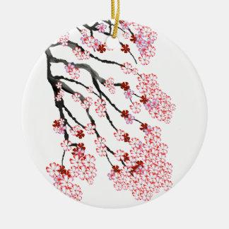 Kirschblüte 18 Tony Fernandes Rundes Keramik Ornament