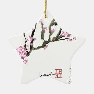 Kirschblüte 8 Tonys Fernandes Keramik Stern-Ornament