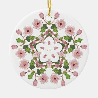 Kirschblüte-Blüten-Verzierung 3 Rundes Keramik Ornament