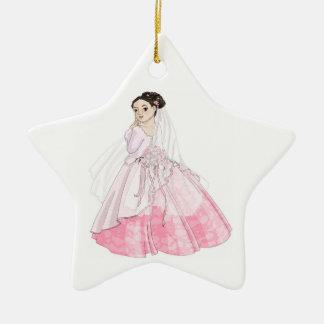 Kirschblüte-Braut Keramik Stern-Ornament