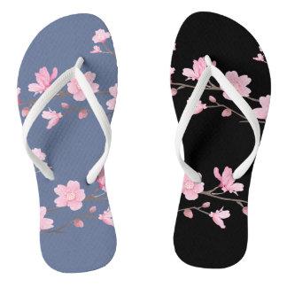 Kirschblüte - Denim-Blau Flip Flops