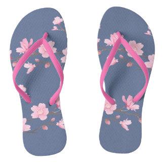 Kirschblüte - Denim Flip Flops