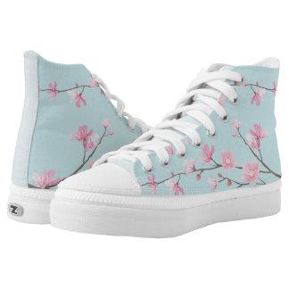Kirschblüte - Himmel-Blau Hoch-geschnittene Sneaker