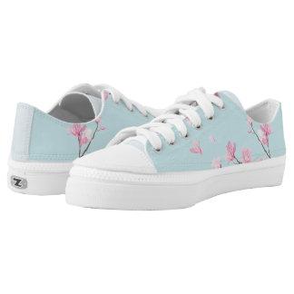 Kirschblüte - Himmel-Blau Niedrig-geschnittene Sneaker