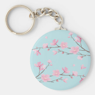 Kirschblüte - Himmel-Blau Schlüsselanhänger