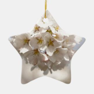 Kirschblüte Keramik Stern-Ornament