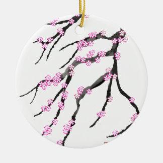 Kirschblüte-Kirschblüte 20, Tony Fernandes Rundes Keramik Ornament