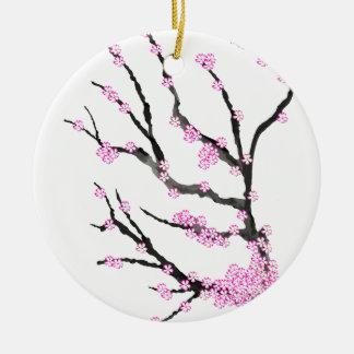 Kirschblüte-Kirschblüte 21, Tony Fernandes Rundes Keramik Ornament