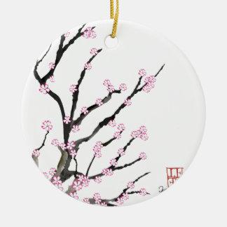 Kirschblüte-Kirschblüte 23, Tony Fernandes Rundes Keramik Ornament