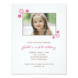 Kirschblüte-Mädchen-Geburtstags-Party laden ein 10,8 X 14 Cm Einladungskarte