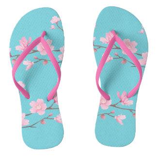 Kirschblüte - Robin-Eiblau Flip Flops