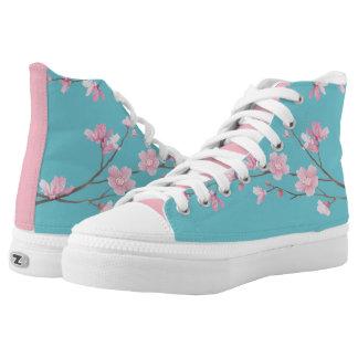 Kirschblüte - Robin-Eiblau Hoch-geschnittene Sneaker