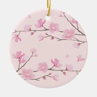 Kirschblüte - Rosa - ALLES GUTE ZUM GEBURTSTAG Keramik Ornament