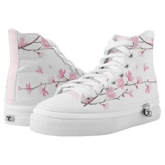 Kirschblüte - Rosa Hoch-geschnittene Sneaker