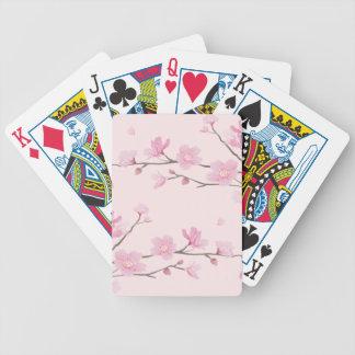 Kirschblüte - Rosa Poker Karten