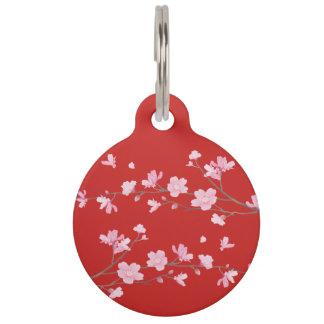 Kirschblüte - Rot Tiernamensmarke