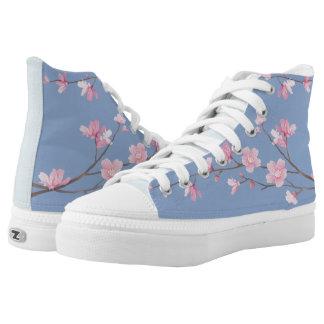 Kirschblüte - Ruhe-Blau Hoch-geschnittene Sneaker
