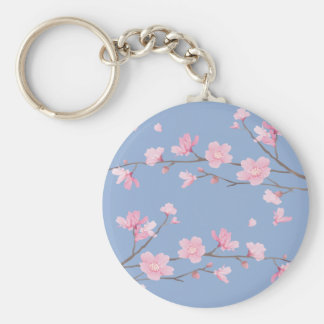 Kirschblüte - Ruhe-Blau Schlüsselanhänger