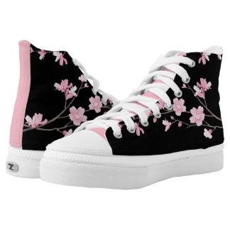 Kirschblüte - Schwarzes Hoch-geschnittene Sneaker