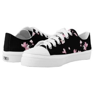 Kirschblüte - Schwarzes Niedrig-geschnittene Sneaker