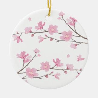 Kirschblüte - Transparent-Hintergrund Rundes Keramik Ornament