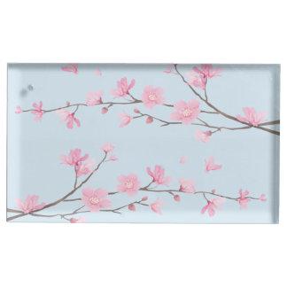 Kirschblüte - transparent tischkartenhalter