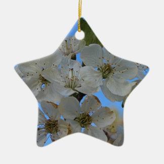 Kirschblüten Keramik Stern-Ornament