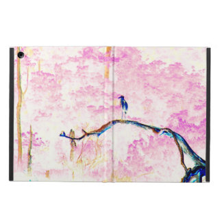 Kirschblüten-Landschaft mit Vogel