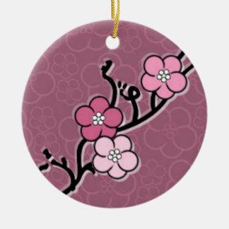 Kirschblüten-Niederlassung Rundes Keramik Ornament