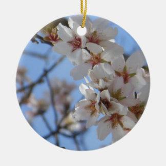 Kirschblüten Rundes Keramik Ornament