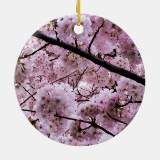 Kirschblüten-Überdachung Rundes Keramik Ornament