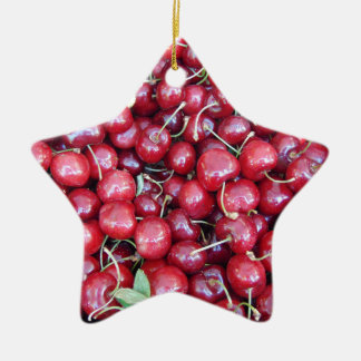 Kirschen Keramik Ornament