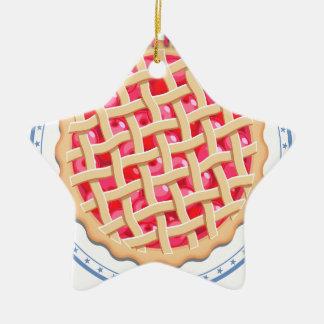 Kirschtorten-Tag - Anerkennungs-Tag Keramik Stern-Ornament