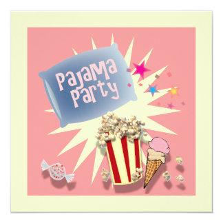 Kissen Schlummersleepover-Pyjama-Party Einladung