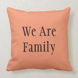 Kissen, sind wir Familie, Wohngestaltung Kissen