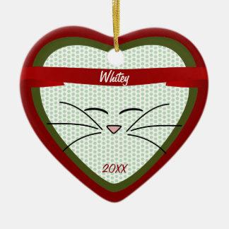 Kitty-Gesichts-Foto-Andenken Keramik Ornament