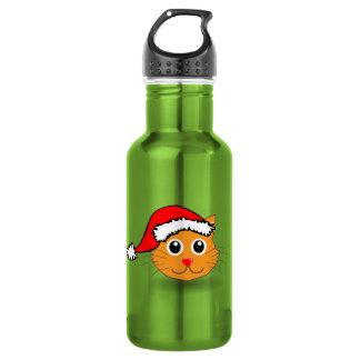 Kitty in der Weihnachtsmannmütze-Flasche Trinkflaschen