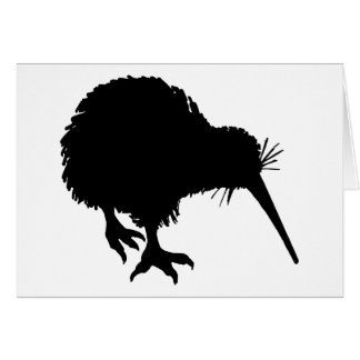 Kiwi-Silhouette Grußkarte