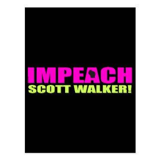 Klagen Sie Scott-Wanderer an Postkarte