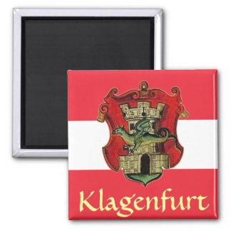 Klagenfurt-Wappen Quadratischer Magnet