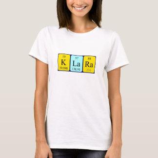 Klara Namen-Shirt periodischer Tabelle T-Shirt