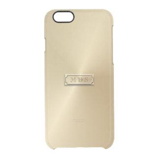 Klares visuelles Effekt-Nummernschild des Gold3d Durchsichtige iPhone 6/6S Hülle