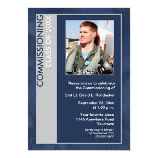 Klasse der Foto-Einladung in Auftrag geben (blau) 12,7 X 17,8 Cm Einladungskarte