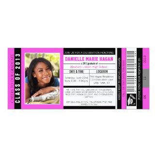 Klasse von Abschluss VIP-Aufnahme-Karte 2013 10,2 X 23,5 Cm Einladungskarte