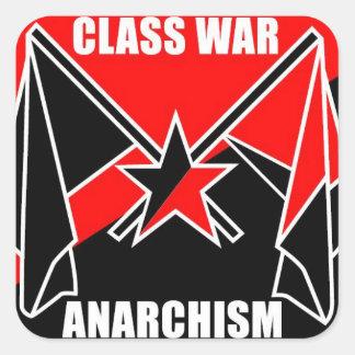 Klassenkampf-Anarchismus Quadrataufkleber