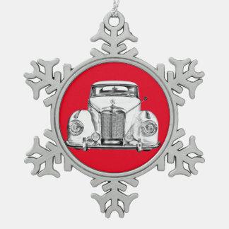 Klassische Auto-Luxusillustration MERCEDES-BENZ Schneeflocken Zinn-Ornament
