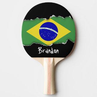 Klassische brasilianische Flagge Tischtennis Schläger