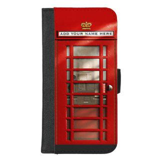 Klassische britische rote Telefonzelle iPhone 8/7 Plus Geldbeutel-Hülle